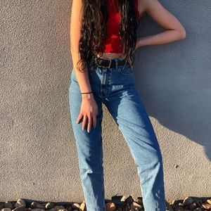 Zara Vintage-Like High Waisted Mom Jeans